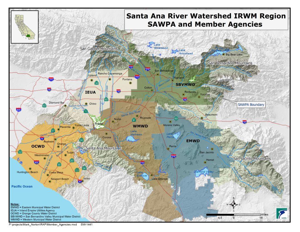 GIS map of SAWPA Member Agencies