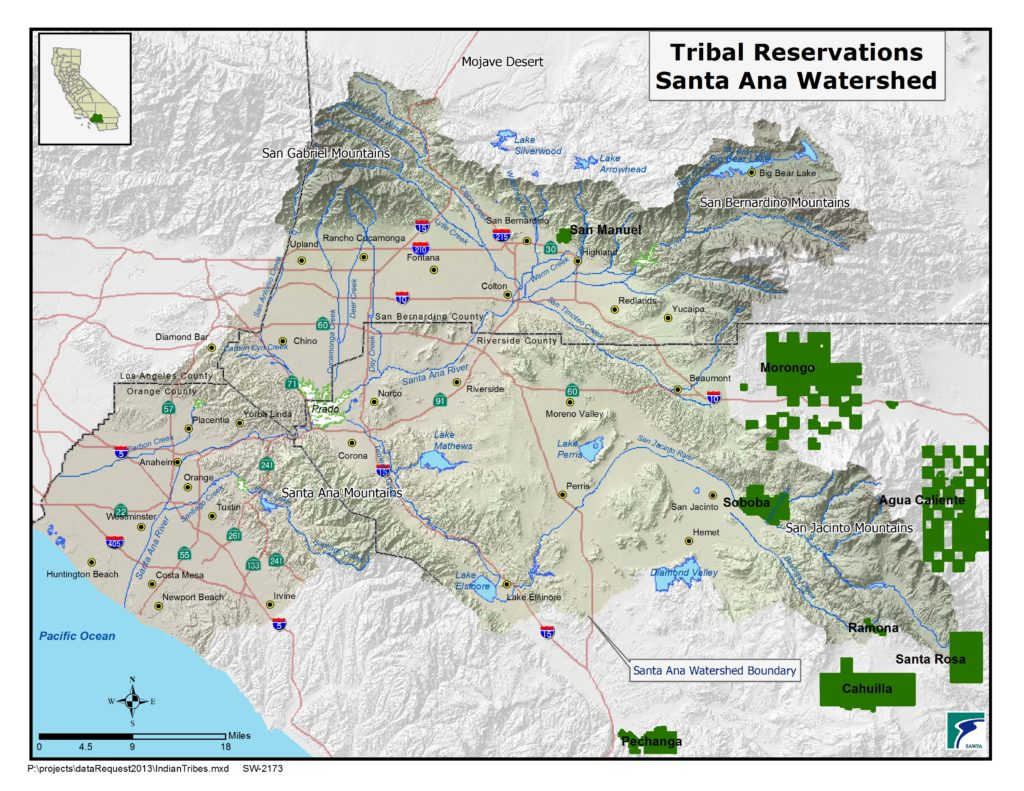 GIS map of Tribal Reservations