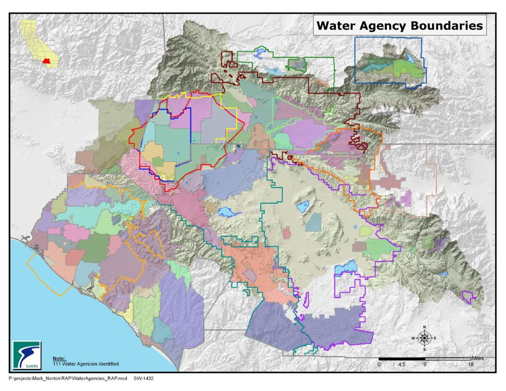 GIS map of Water Related Agencies