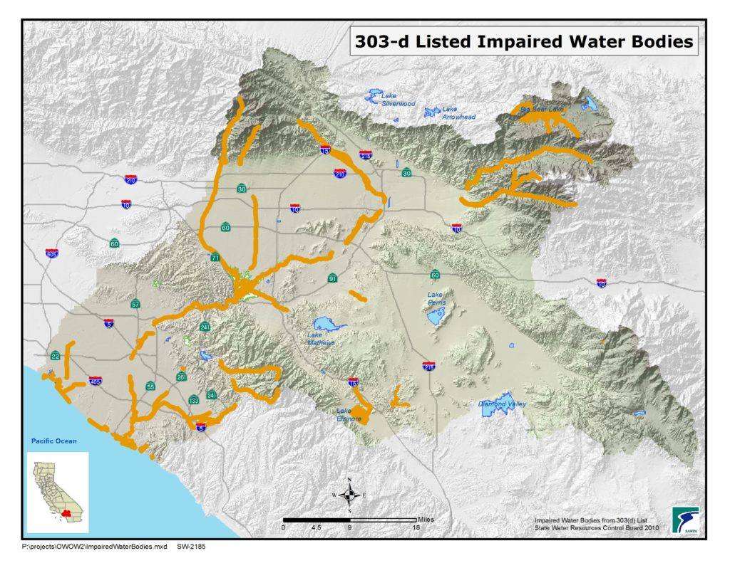 GIS map of Impaired Water Bodies
