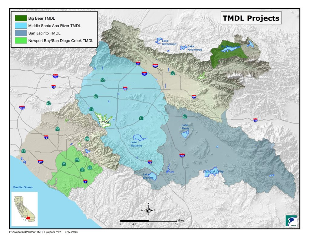 GIS map of TMDL Projects