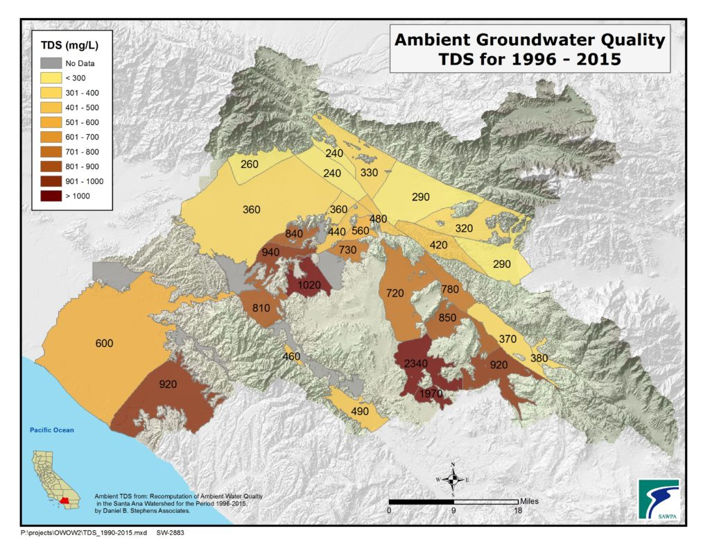 GIS map of Ambient GroundH20 Quality-TDS