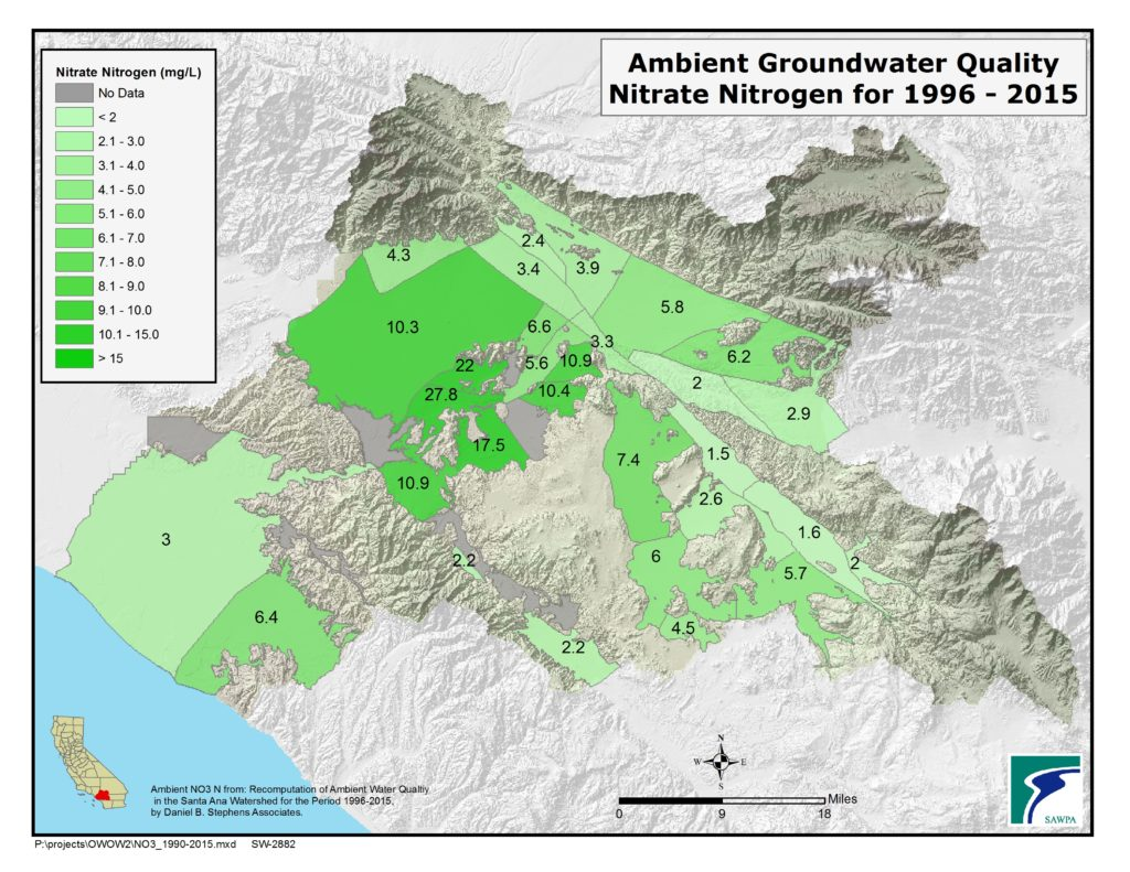GIS map of Ambient GroundH20 Quality-NO3