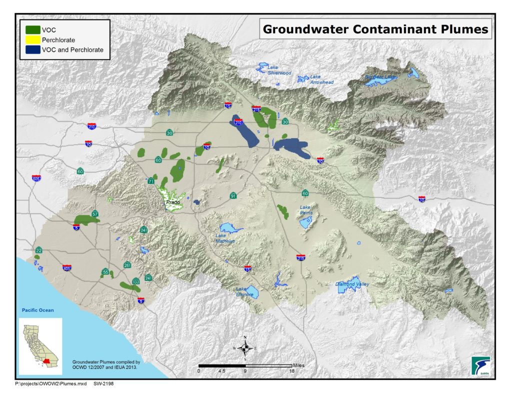 GIS map of Groundwater Contaminant Plumes