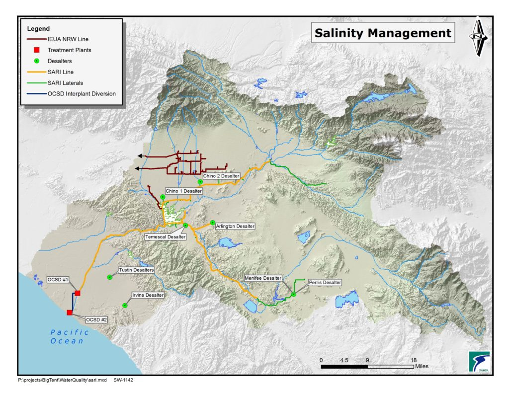 GIS map of Salinity Management