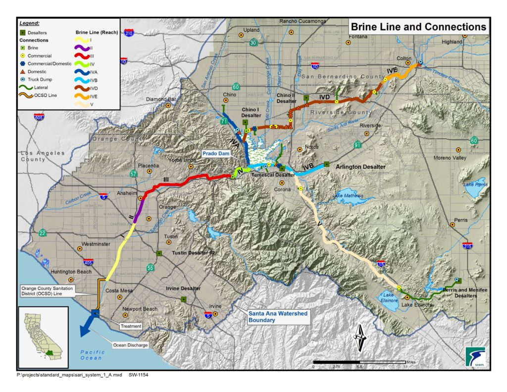 GIS map of Brine Line System