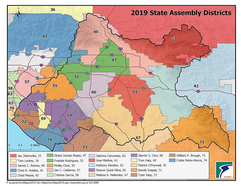 GIS map of California Assembly