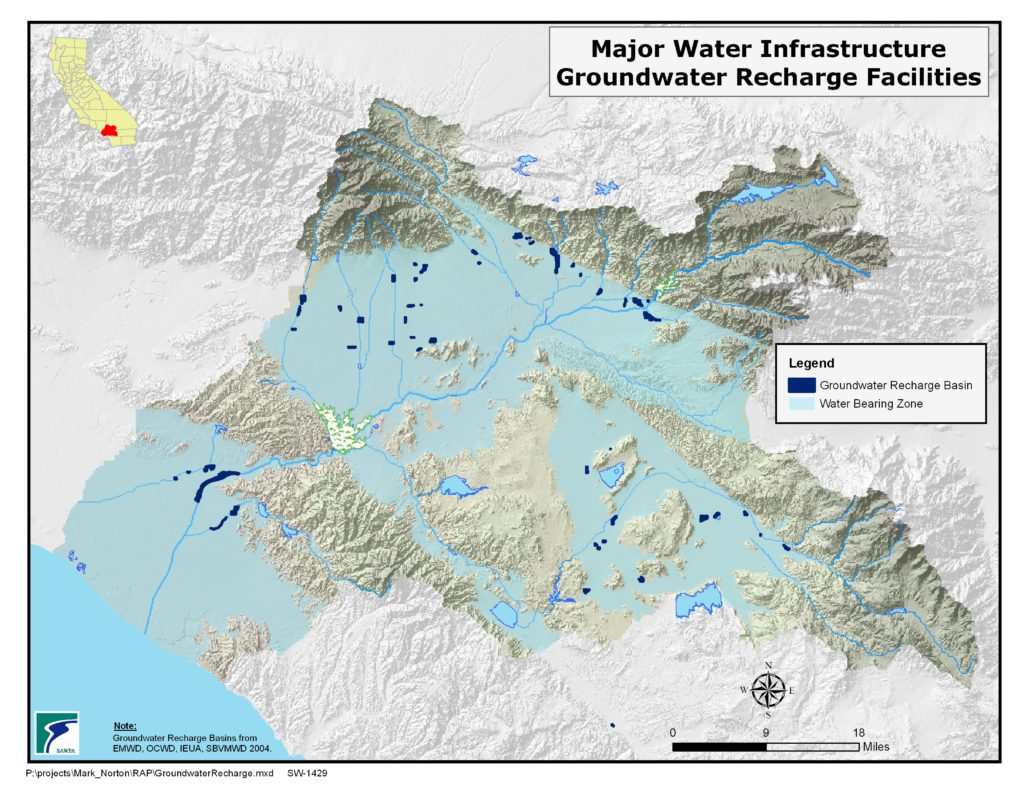 GIS map of Groundwater Recharge Facilities