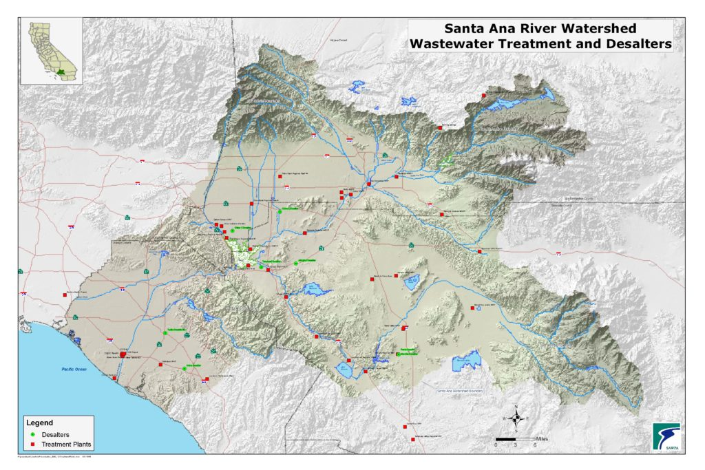 GIS map of Wastewater Treatment and Desalters