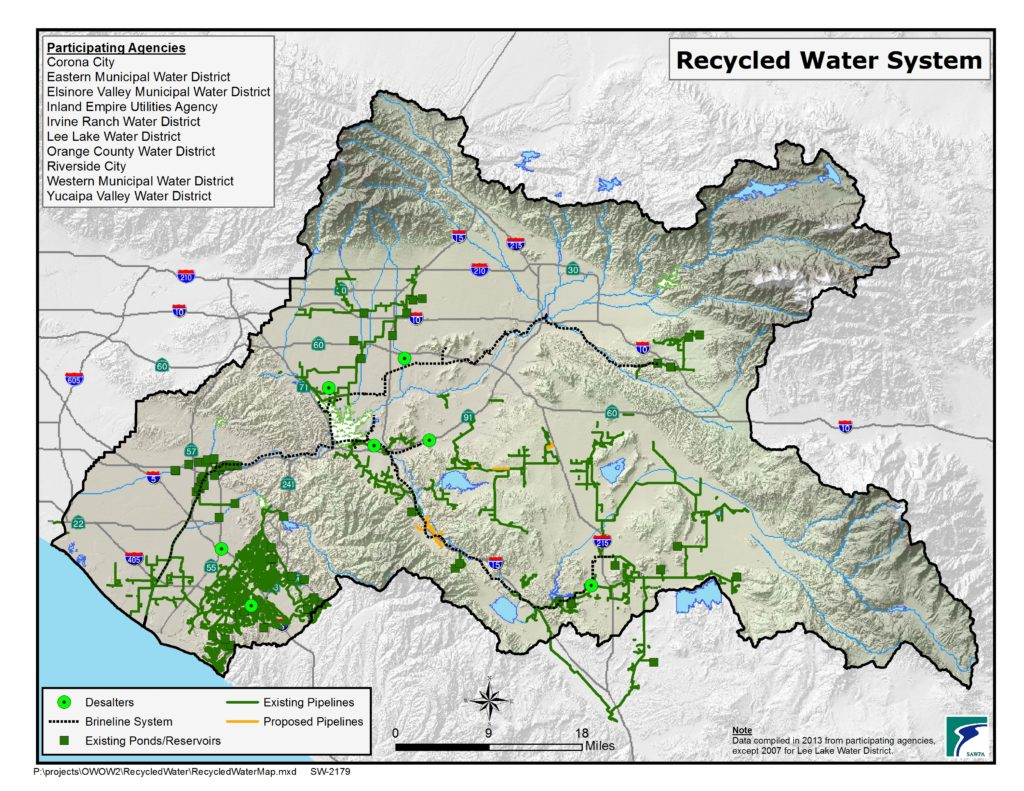 GIS map of Recycled Water System