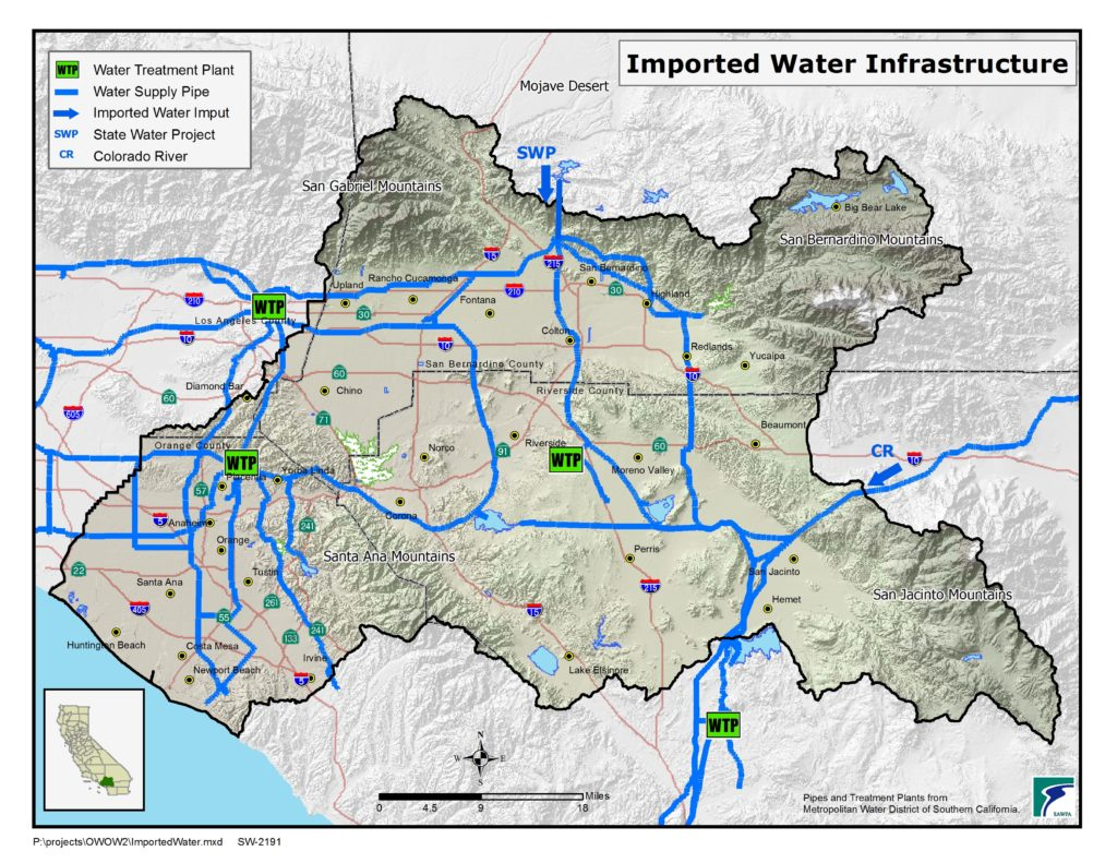 GIS map of Imported Water Infrastructure