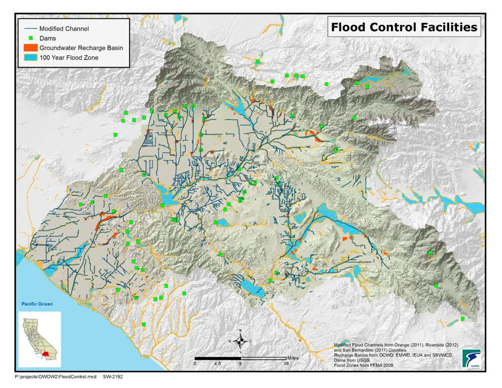GIS map of Flood Control Facilities