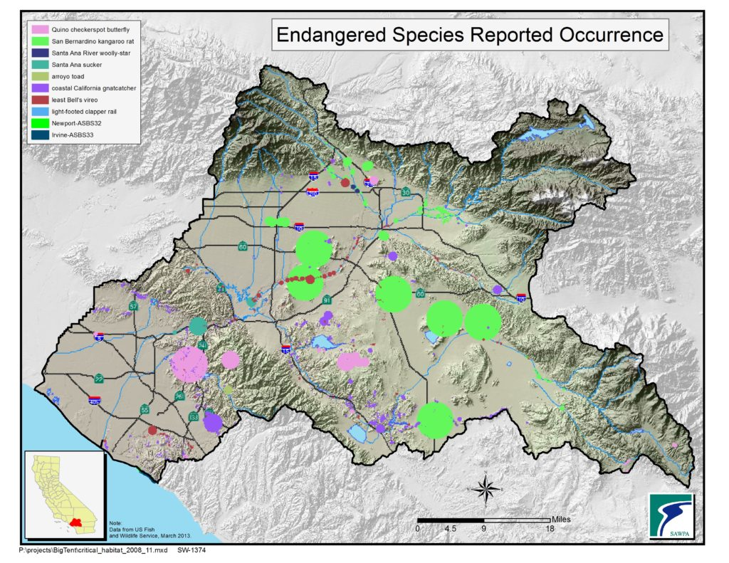 GIS map of Endangered Species Occurrence