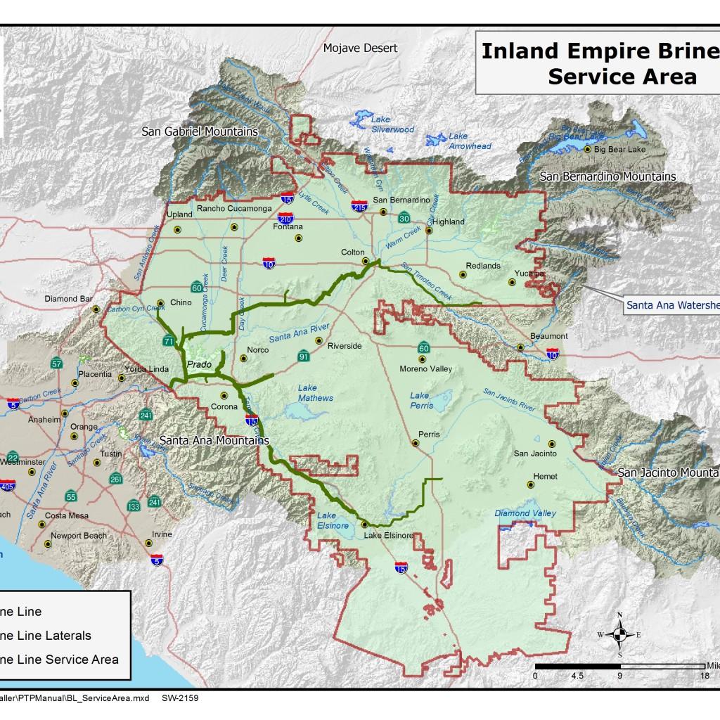 GIS map of Brine Line Service Area