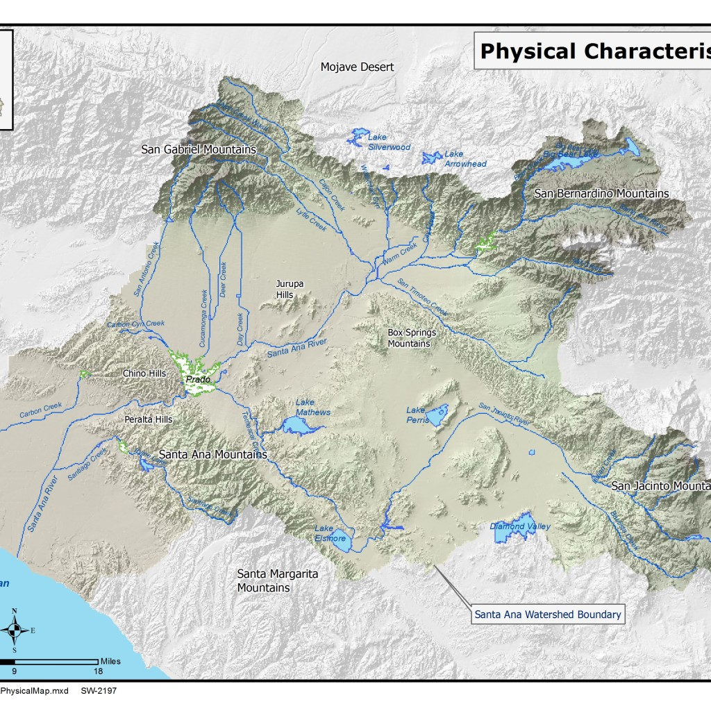 GIS map of Topography, Surface Water