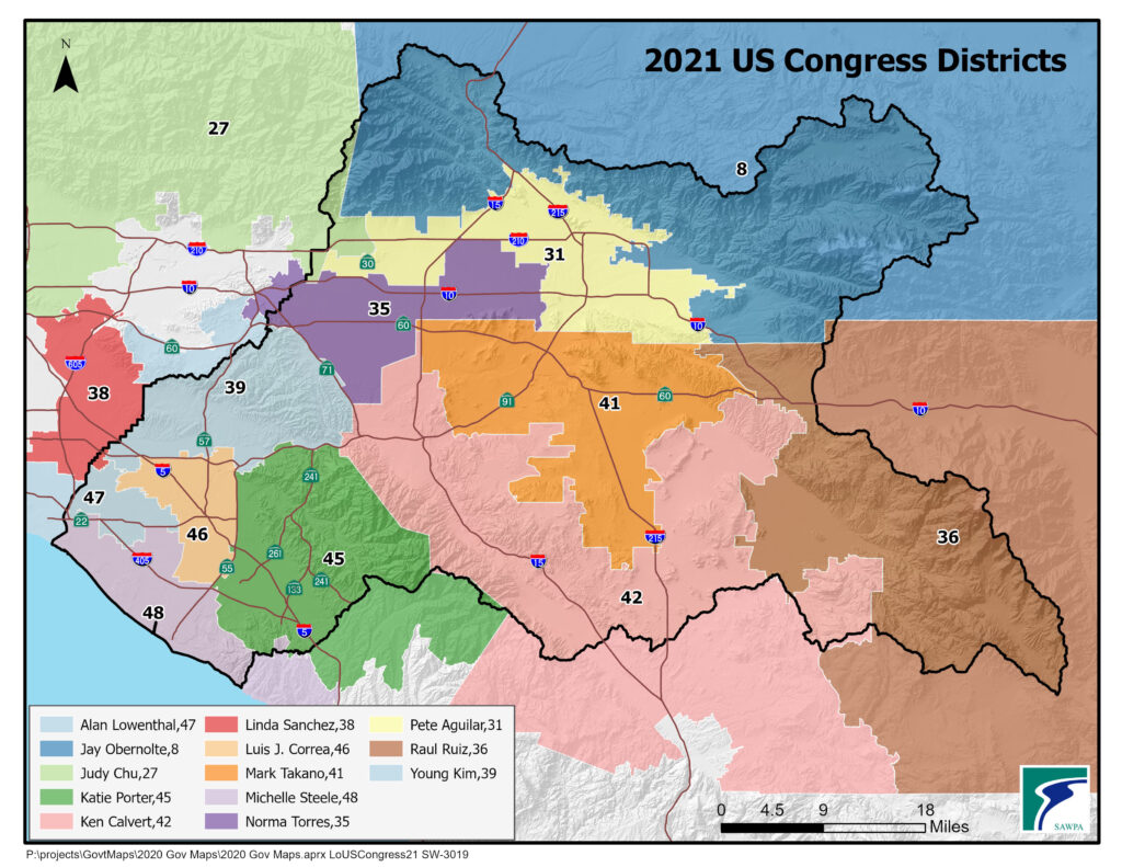 GIS map of US Congress