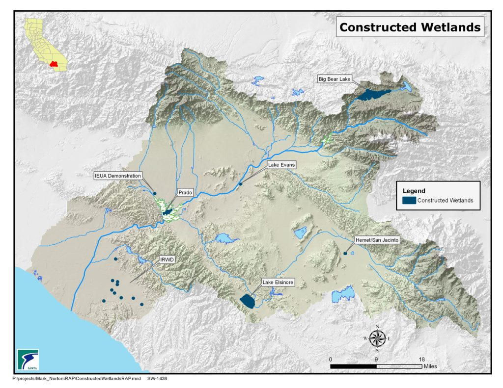 GIS map of Constructed Wetlands