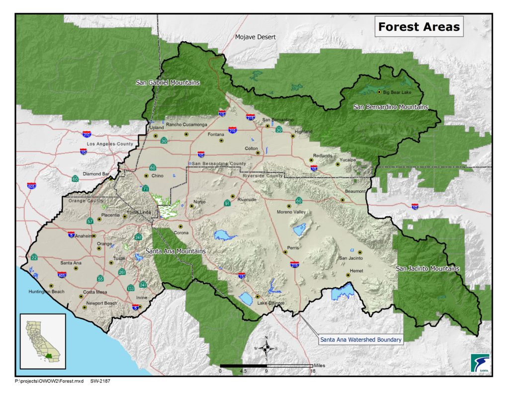 GIS map of Forest Areas