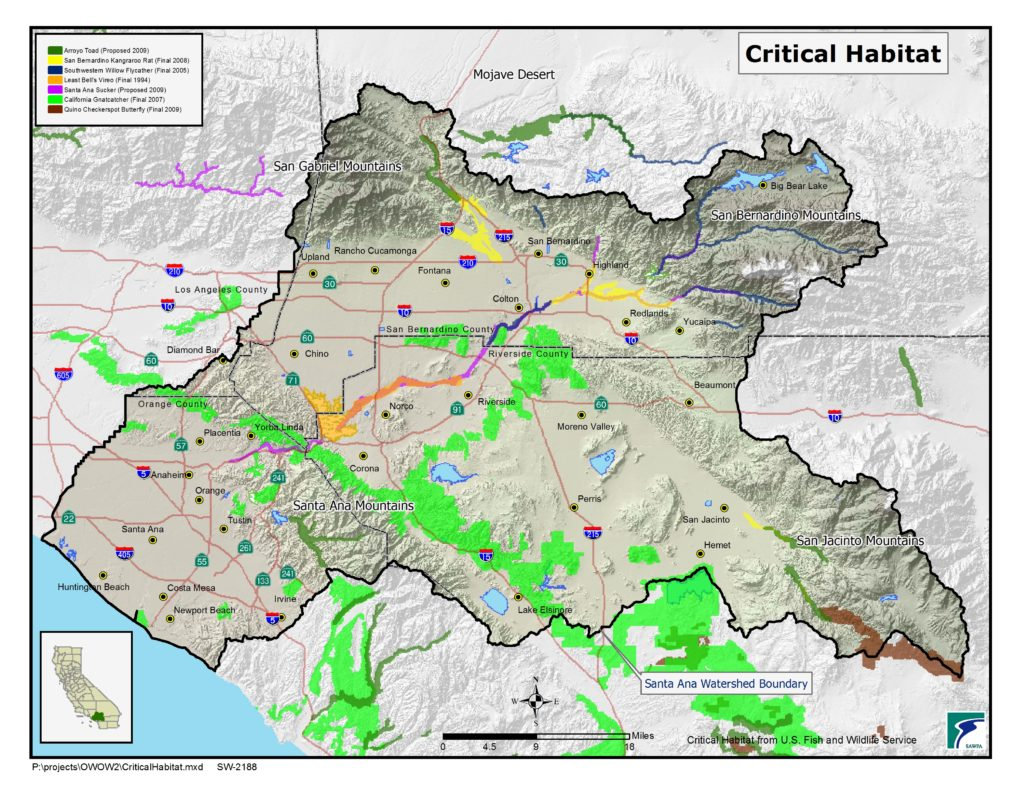 GIS map of Critical Habitat