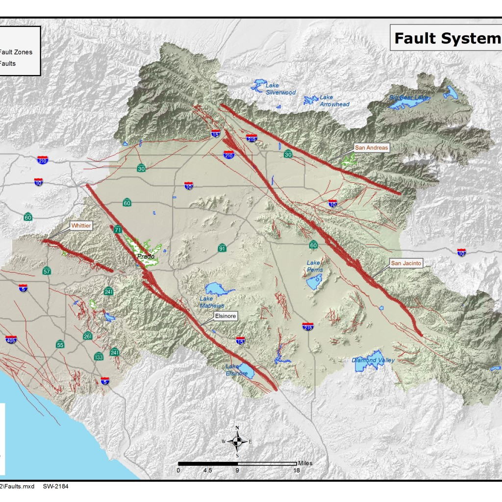 GIS map of Fault Systems