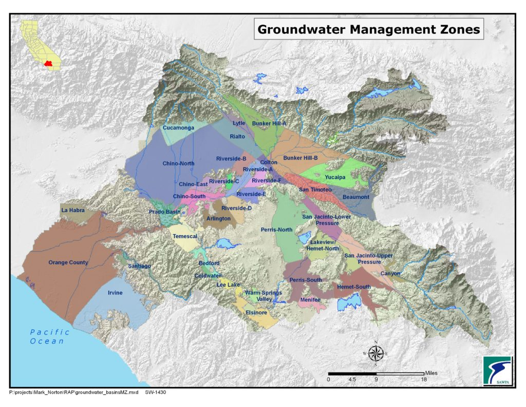 GIS map of Groundwater Mgmt Zones