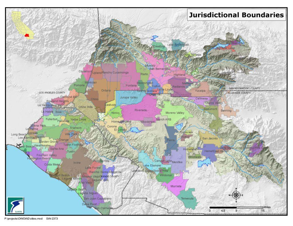 GIS map of Jurisdictional Boundaries
