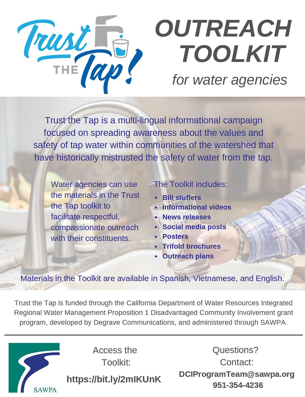 View Trust the Tap Campaign Flyer