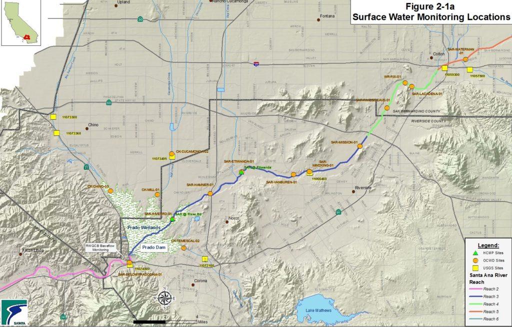 GIS map of Santa Ana River Annual Report