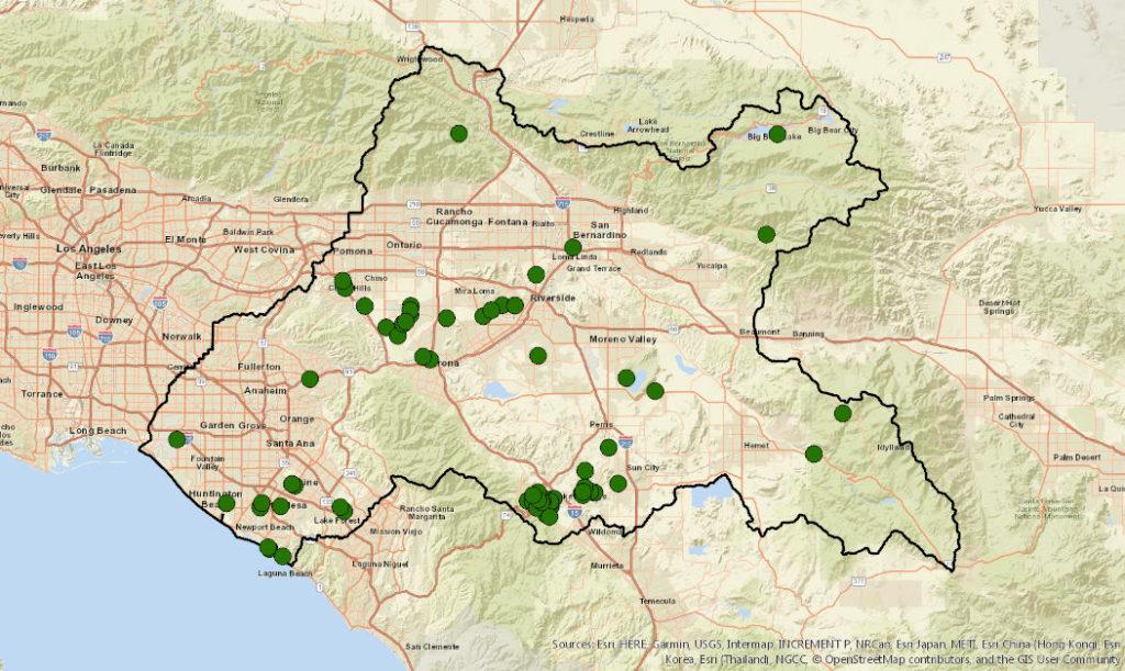 GIS map of Surface Water Monitoring Data